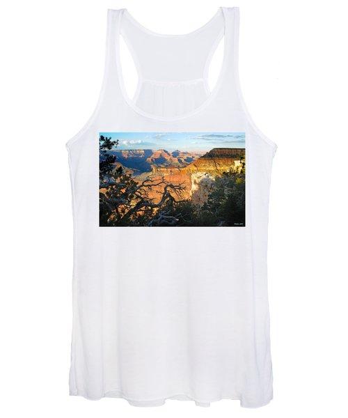 Grand Canyon South Rim - Sunset Through Trees Women's Tank Top