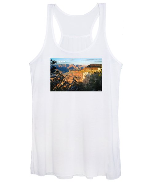 Grand Canyon South Rim - Sunset Through Trees Women's Tank Top