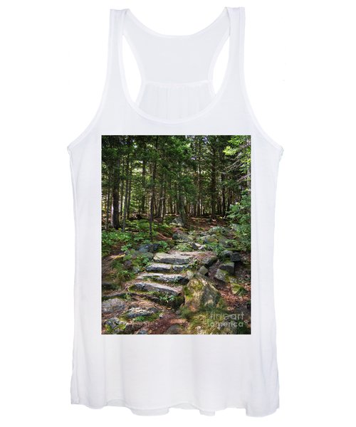 Granite Steps, Camden Hills State Park, Camden, Maine -43933 Women's Tank Top