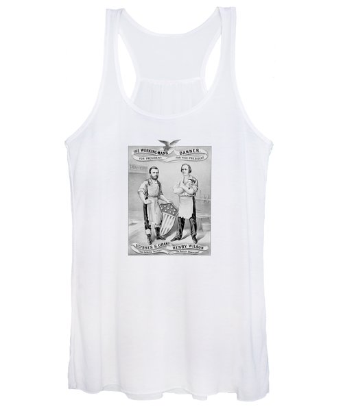 Grant And Wilson 1872 Election Poster  Women's Tank Top