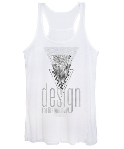 Graphic Art Design The Life You Love - Silver Women's Tank Top