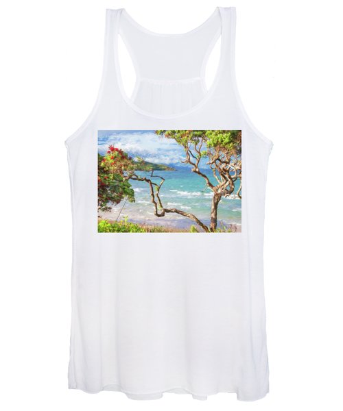 Great Barrier Island New Zealand View Painterly Women's Tank Top