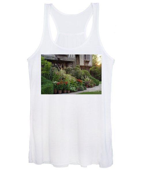 Women's Tank Top featuring the photograph Great Dixter House And Gardens At Sunset 2 by Perry Rodriguez