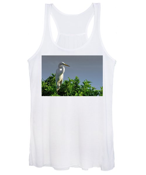 Great White Egret  Women's Tank Top