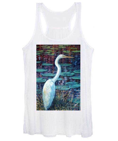 Great White Egret Women's Tank Top