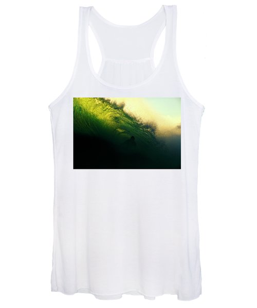 Green And Black Women's Tank Top