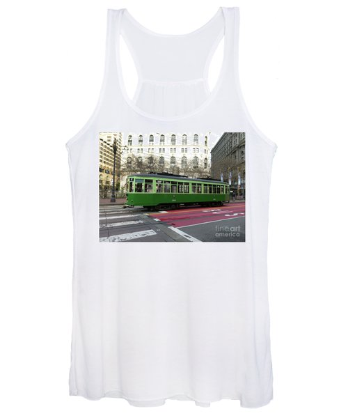Green Trolley Women's Tank Top