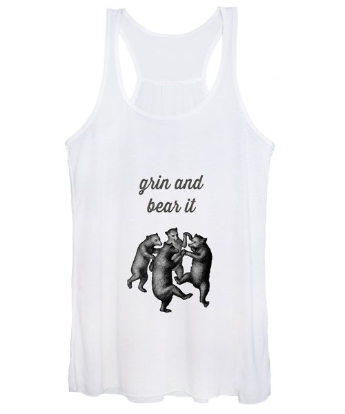 Grin And Bear It Vintage Drawing Women's Tank Top