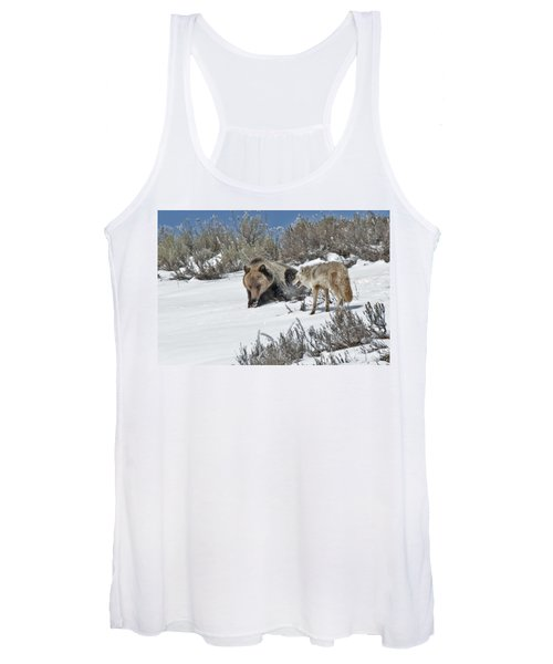 Grizzly With Coyote Women's Tank Top
