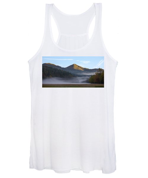 Ground Fog In Cataloochee Valley - October 12 2016 Women's Tank Top