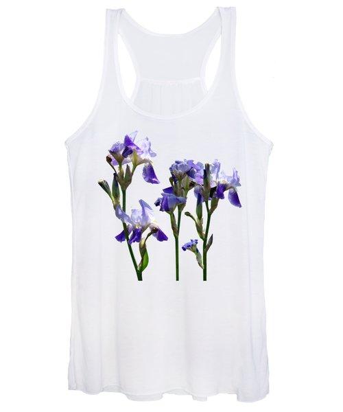 Group Of Purple Irises Women's Tank Top