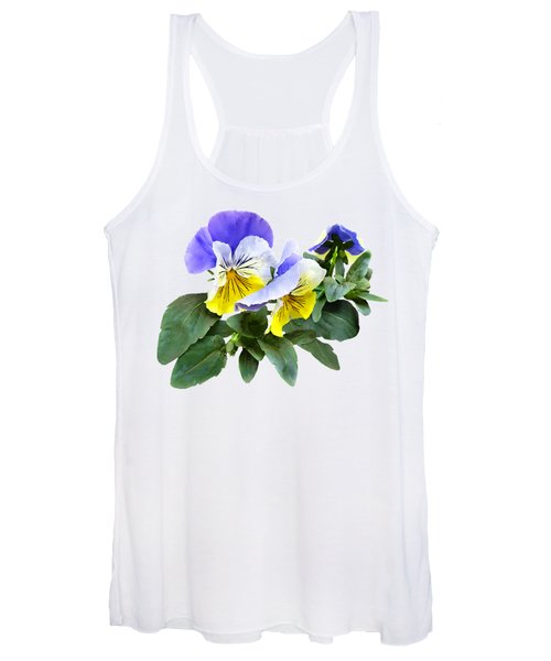 Group Of Yellow And Purple Pansies Women's Tank Top
