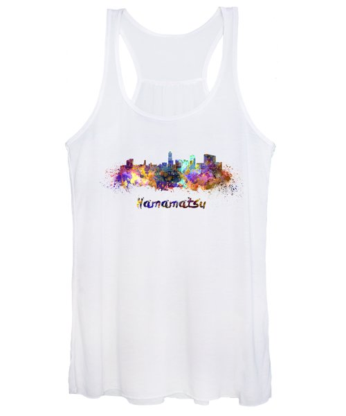 Hamamatsu Skyline In Watercolor Women's Tank Top