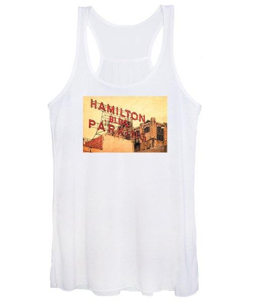 Hamilton Bldg Parking Sign Women's Tank Top