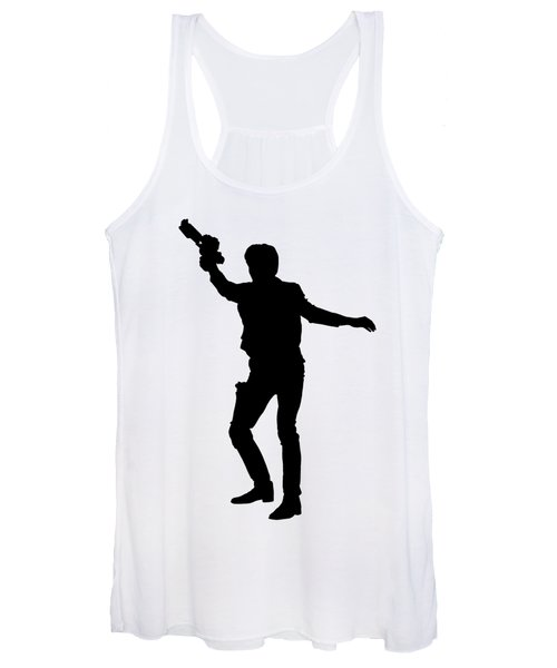 Women's Tank Top featuring the digital art Han Solo Star Wars Tee by Edward Fielding