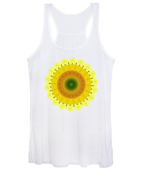 Happy Sunflower Mandala By Kaye Menner Women's Tank Top