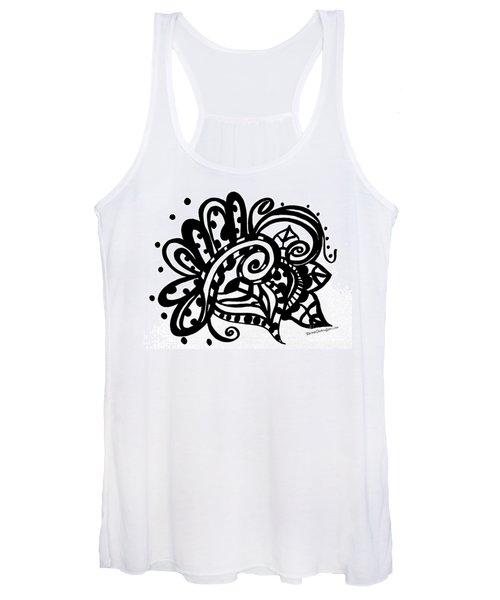 Happy Swirl Doodle Women's Tank Top