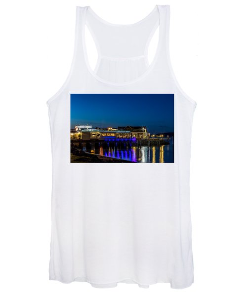 Harbor Lights During Blue Hour Women's Tank Top
