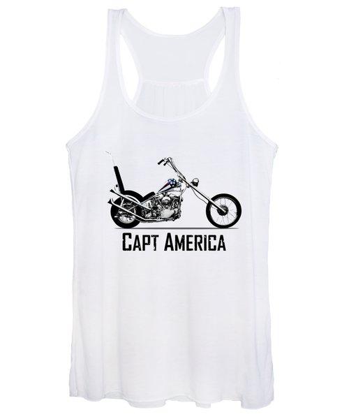 Harley Captain America Women's Tank Top