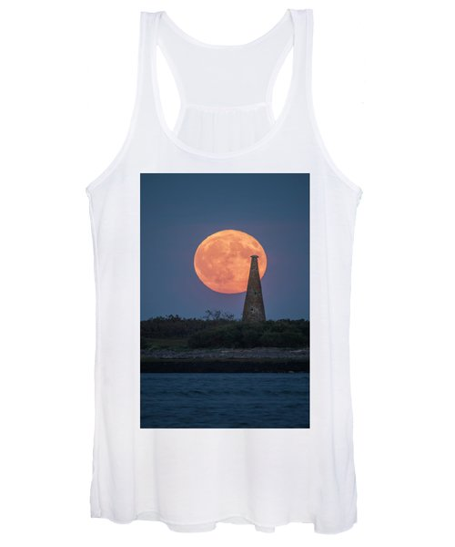 Harvest Moon Over Stage Island, Maine Women's Tank Top