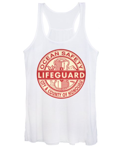 Hawaii Lifeguard Logo Women's Tank Top