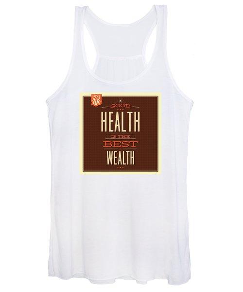 Health Is Wealth Women's Tank Top