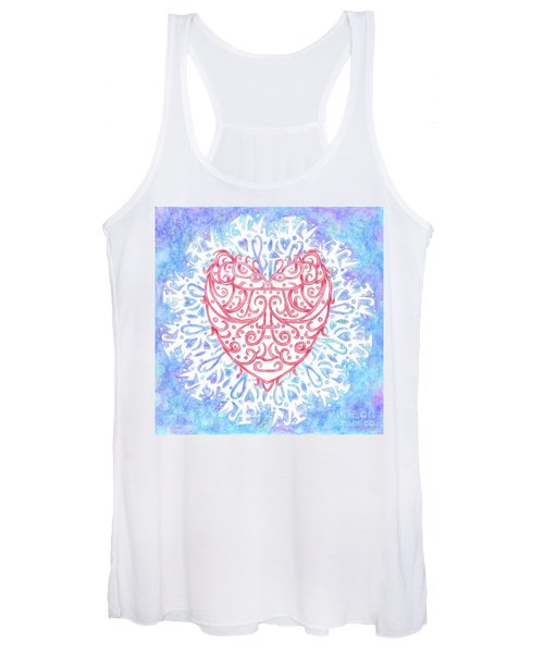 Heart In A Snowflake II Women's Tank Top