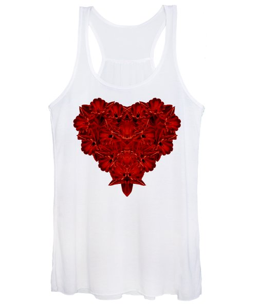Heart Of Flowers T-shirt Women's Tank Top