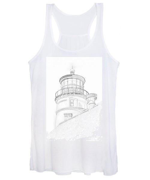 Hecitia Head Lighthouse Sketch Women's Tank Top