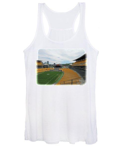 Heinz Stadium With Pittsburgh Skyline Women's Tank Top