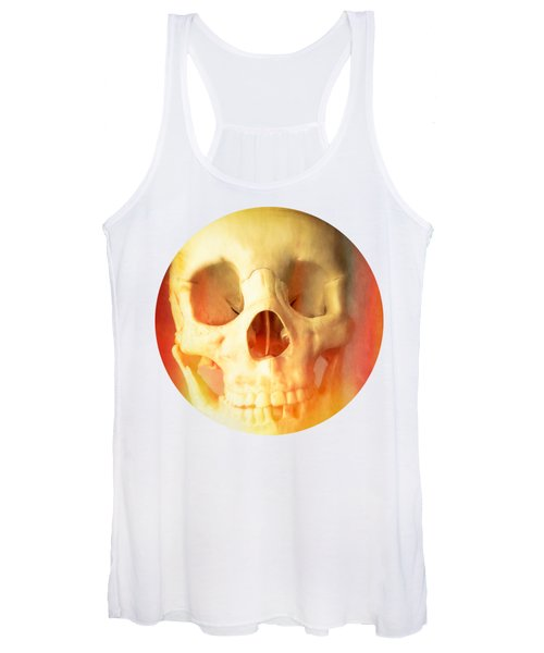 Hell Fire Skull Round Beach Towel Blanket Women's Tank Top