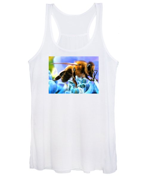 Honey Bee In Interior Design Thick Paint Women's Tank Top