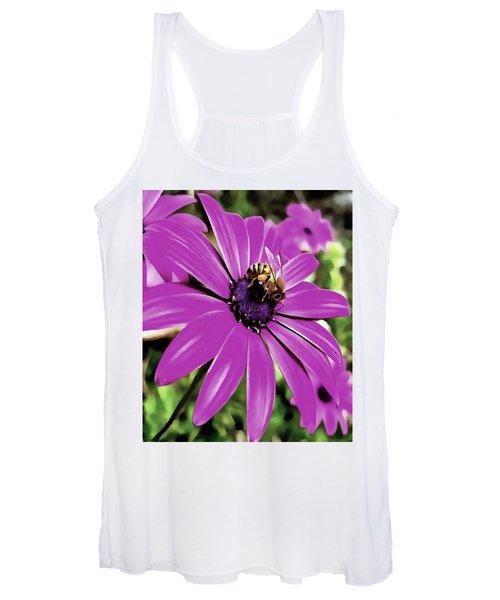 Honey Bee On A Spring Flower Women's Tank Top