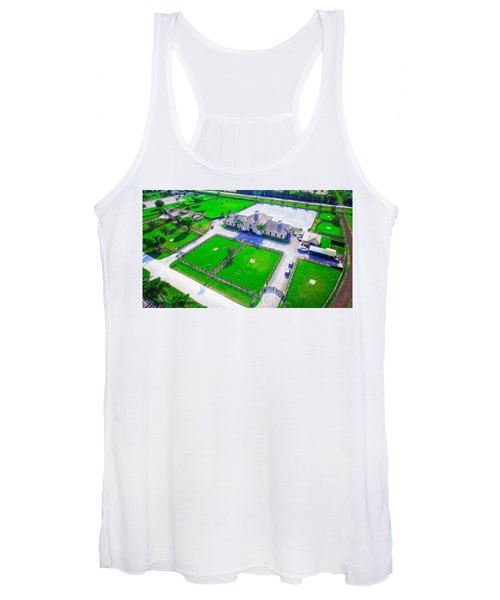 Horse Farm Aerial Women's Tank Top