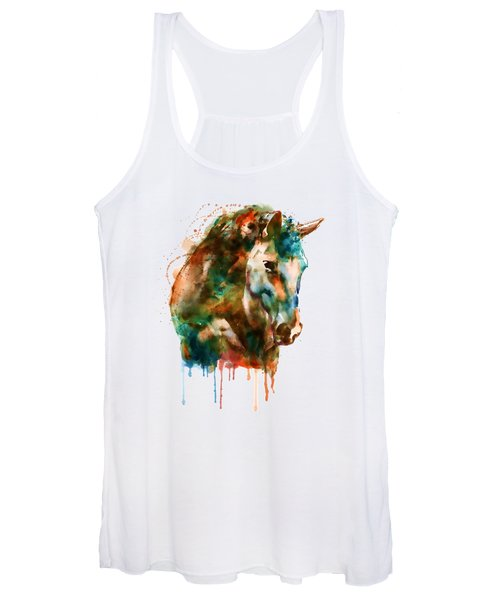 Horse Head Watercolor Women's Tank Top