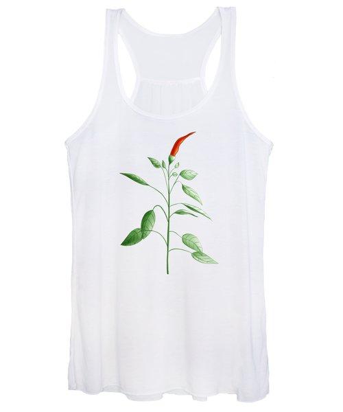 Hot Chili Pepper Plant Botanical Illustration Women's Tank Top