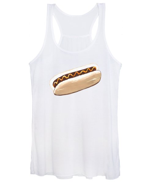 Hot Dog Pattern Women's Tank Top