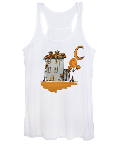 House And Moon Women's Tank Top