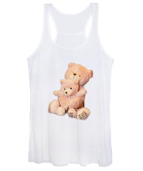 Hugging Bears Cut Out Women's Tank Top