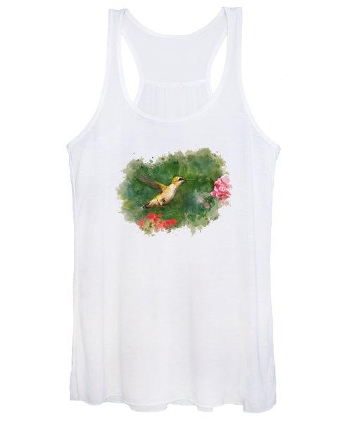 Hummingbird - Watercolor Art Women's Tank Top