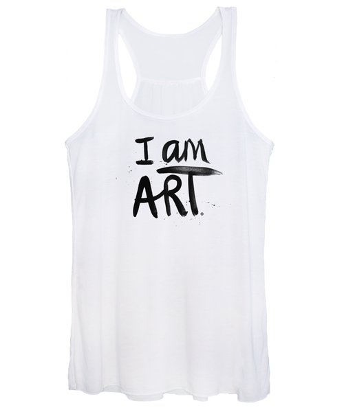 I Am Art Black Ink - Art By Linda Woods Women's Tank Top