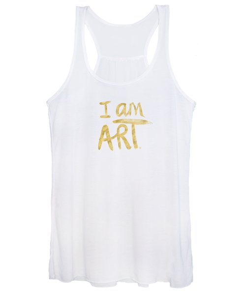 I Am Art Gold - Art By Linda Woods Women's Tank Top