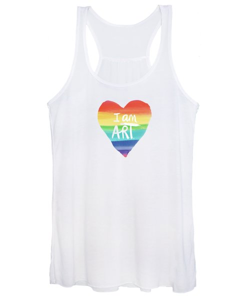 I Am Art Rainbow Heart- Art By Linda Woods Women's Tank Top