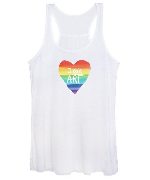 I Am Art Rainbow Heart- Art By Linda Woods Women's Tank Top