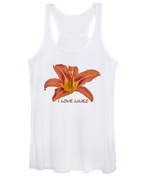 I Love Lilies 2018 Women's Tank Top