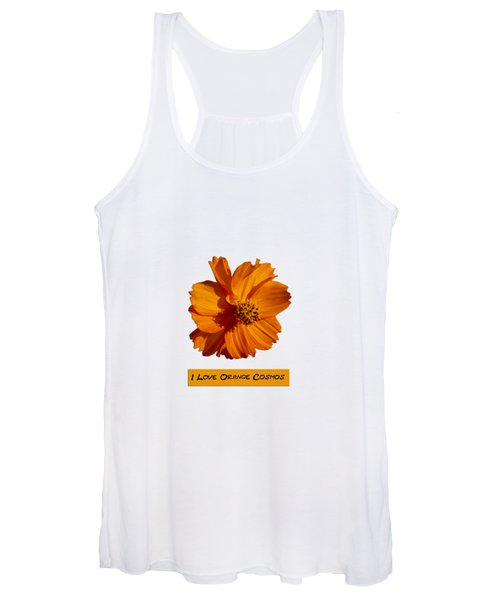 I Love Orange Cosmos 2018-1 Women's Tank Top