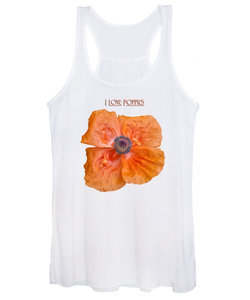 I Love Poppies Women's Tank Top