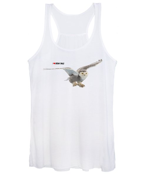 I Love Snowy Owls T-shirt Women's Tank Top