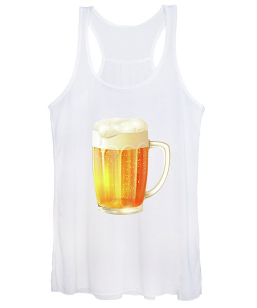 Ice Cold Beer Pattern Women's Tank Top
