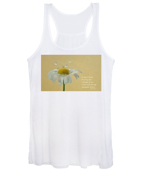 If I Had A Flower Quote Women's Tank Top